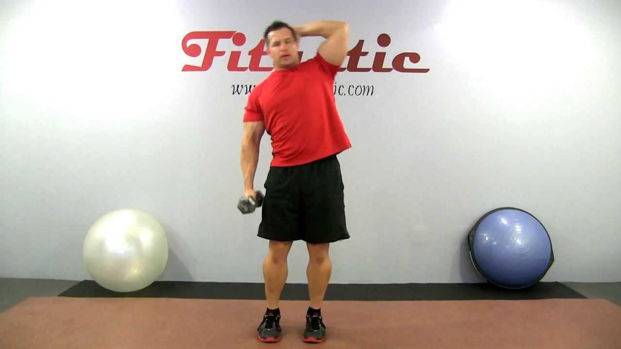 Standing Dumbbell Oblique Crunch to Stretch - YouTube
