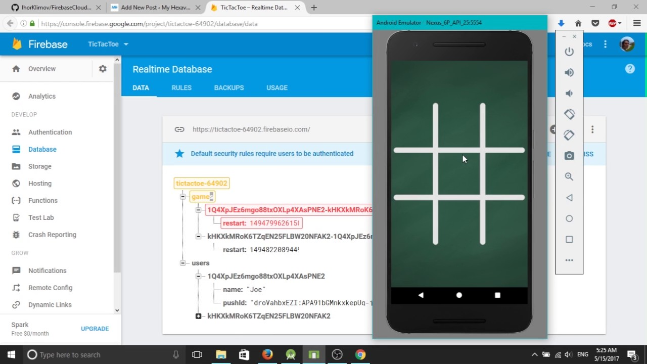 Andorid TIc Tac Toe Multiplayer with Firebase