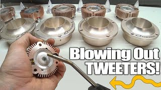 Blowing Out DIRTY TWEETERS!!! Cleaning Off Dust & Metal STUCK on FT1 Titanium Tweeter Diaphragm