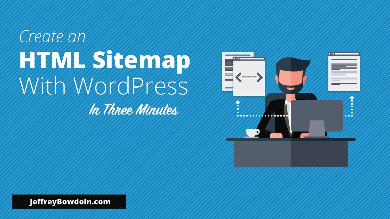 how to add an html sitemap to wordpress youtube