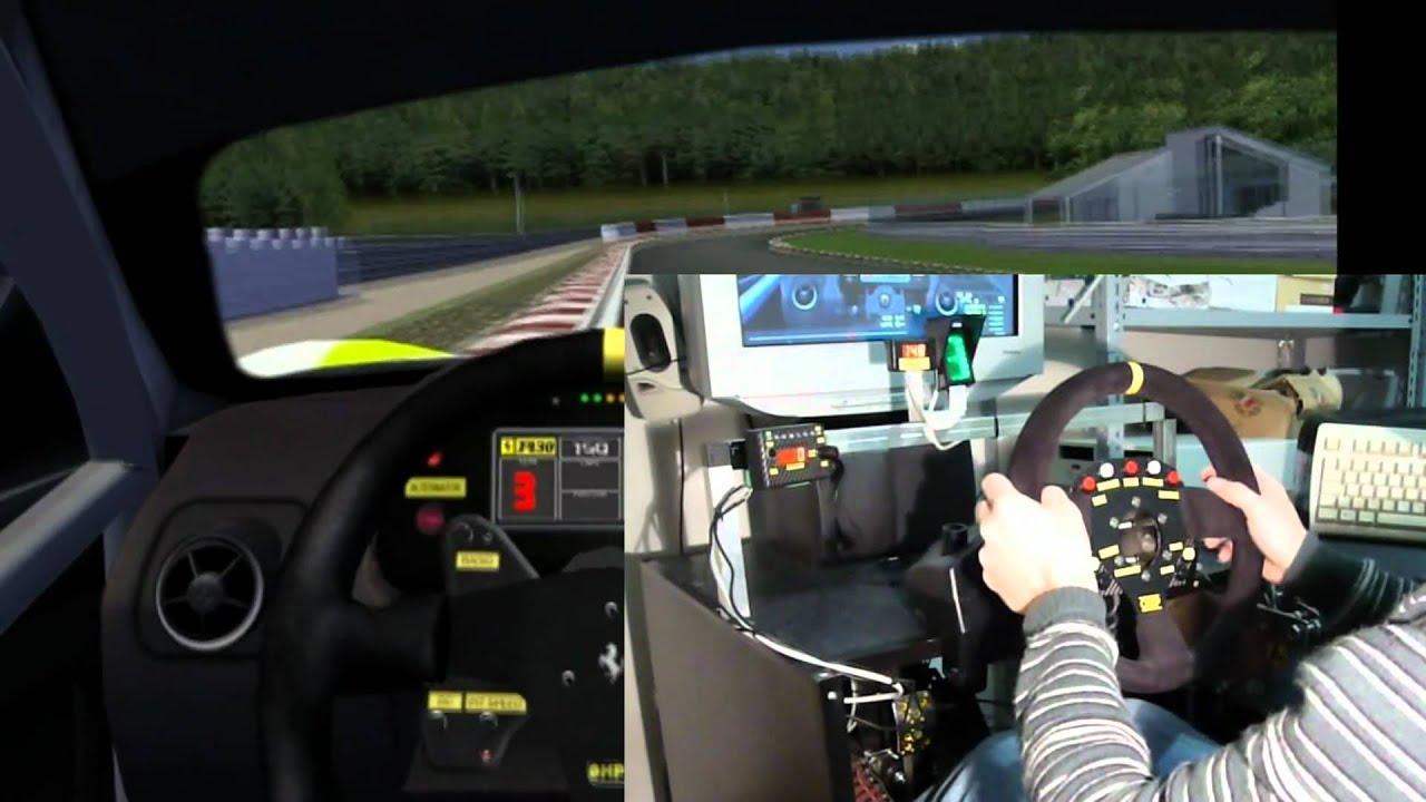 Cockpit per simulatore di guida youtube for Simulatore di arredamento