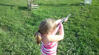 Pink Daisy BB gun shooting!