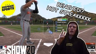 BENCHED?! Hot-Streakkk....!-MLB The Show 20, Episode #7 | SnapBack Sports by Jack