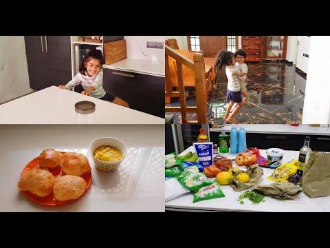 breakfast-routine-vlog---poori,-besan-aloo-masala---make-your-house-smell-nice---yummy-tummy-vlog