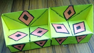 How to make paper sofa -  easy origami tutorial by Trendy Craft  - 3 Sisters Crafts