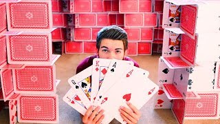 House of GIANT Playing Cards Challenge!