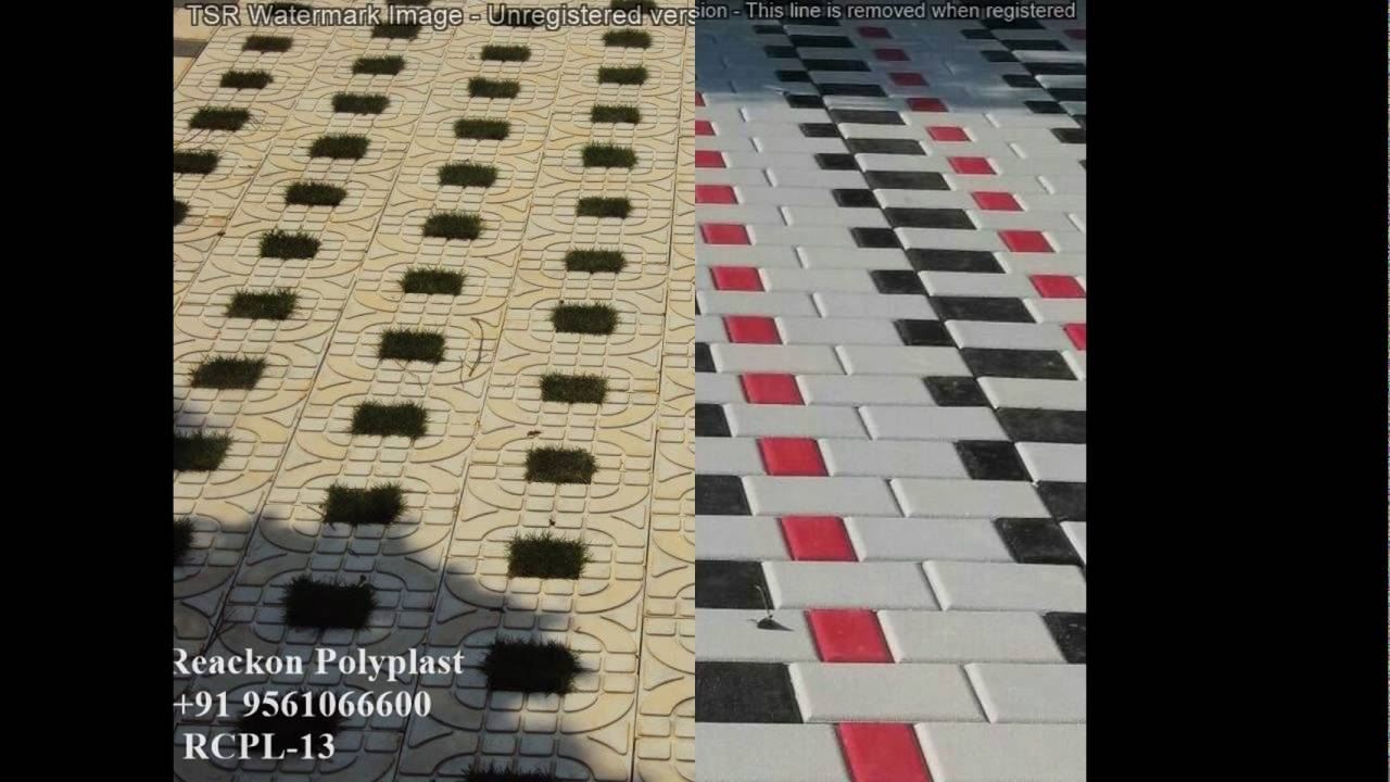 Pvc Paver Rubber Mould Interlocking Paving Blocks Design