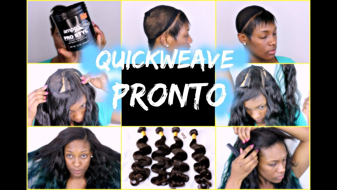 Quickweave Tutorial For Short Hair Youtube
