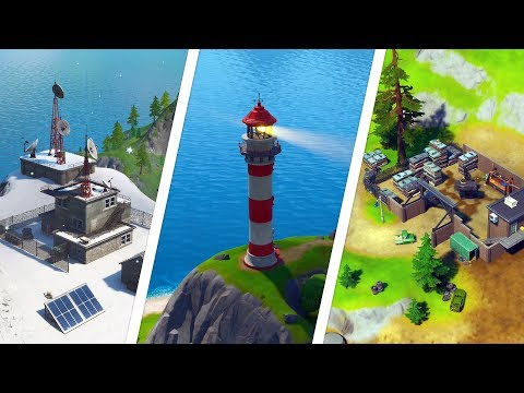 Dance At Compact Cars, Lockie's Lighthouse And A Weather Station Locations - Fortnite Chapter 2