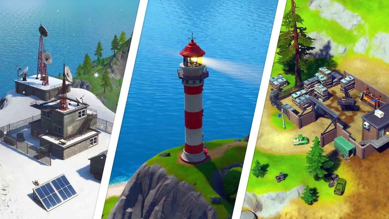 Dance At Compact Cars Lockies Lighthouse And A Weather Station Locations Fortnite Chapter 2
