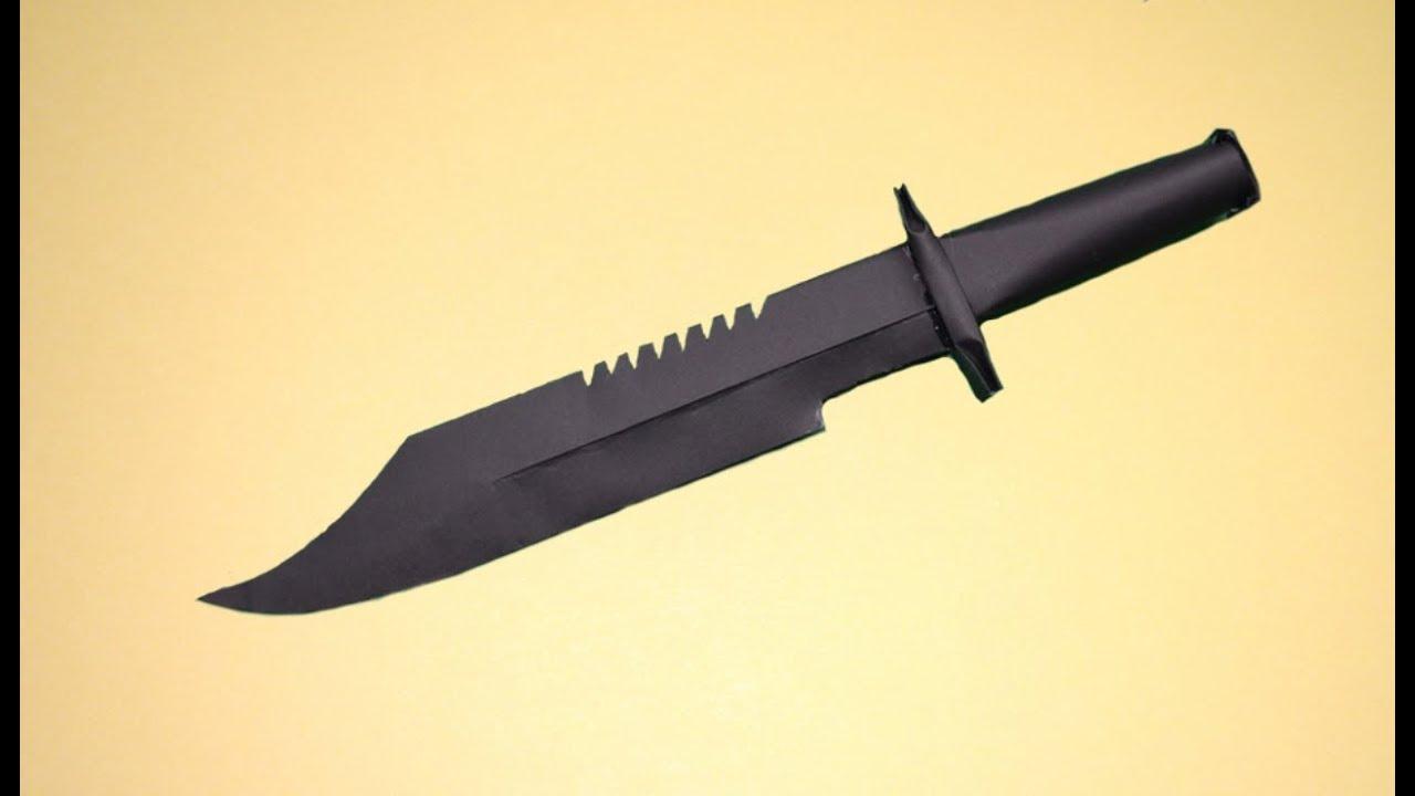 Como hacer un cuchillo de papel armas caseras youtube for Como pulir un cuchillo