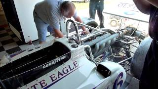 Drake-Offy engine started on a 1972 AAR Eagle Indy car, part 2