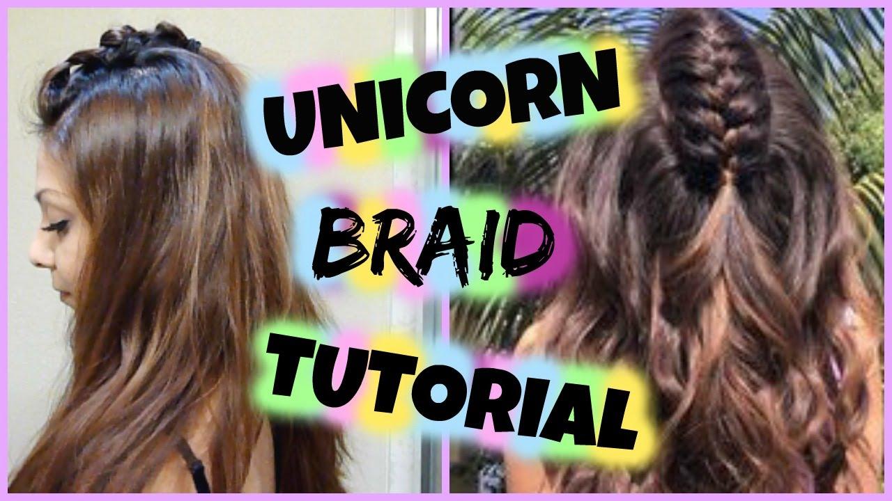 DIY Unicorn Braid Hair Tutorial! │Quick & Easy Half Up BRAIDED HAIRSTYLE  FOR MEDIUM TO LONG HAIR