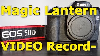 Canon 50D video recording with…
