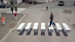 77% Pengendara Tertipu Dengan Trik Ilusi Optik Rambu Lalu Lintas Di Jalanan Ini