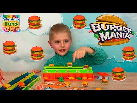 Настольная игра Бургер Мания. Кто успеет приготовить гамбургер? // Burger Mania board game unboxing