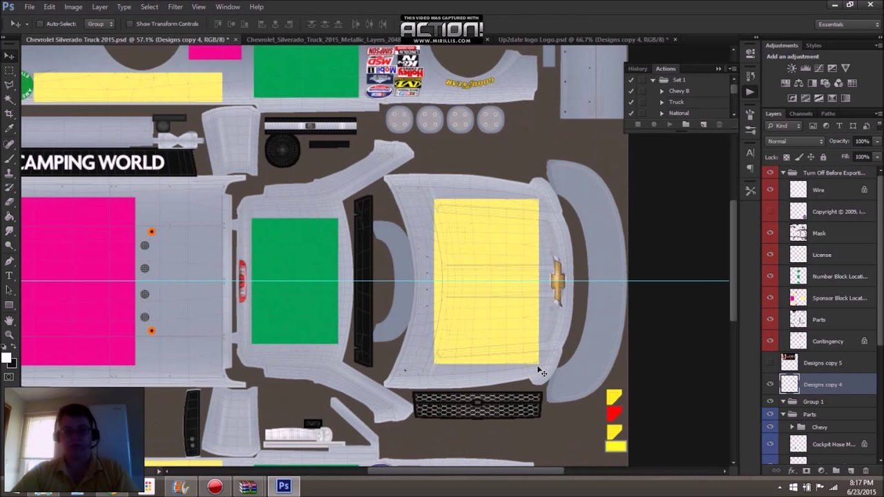 How To: Create a custom paint template for iRacing