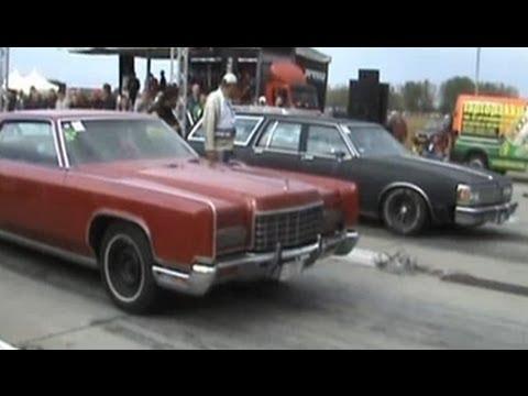 Lincoln Continental 1972 Vs Oldsmobile Custom Cruiser 1980 Drag