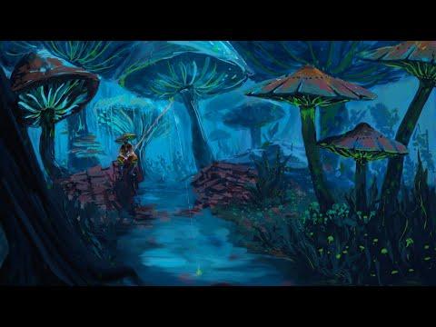 Mushroom Landscape – ProCreate Digital Painting