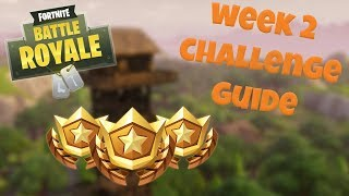 HOW TO COMPLETE ALL WEEK 2 CHALLENGES - SEASON 3 - FORTNITE BATTLE ROYALE TIPS/TUTORIALS