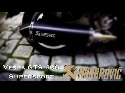 Vespa Gts  i.e. Supersport - Akrapovic Auspuffanlage - Exhaust System - Instruction - To Do