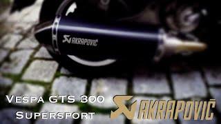 Vespa Gts 300 i.e. Supersport - Akrapovic Auspuffanlage - Exhaust System - Instruction - To Do