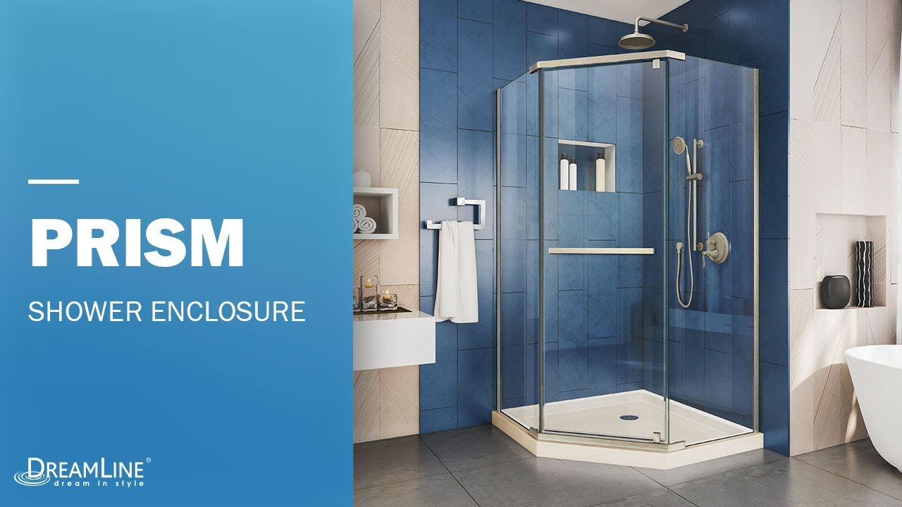 DreamLine Prism Neo-angle Frameless Shower Enclosure | Pivot Opening ...