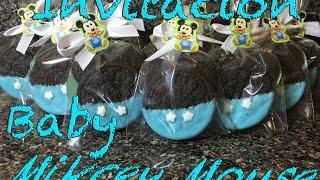 Invitation baby Mickey mouse