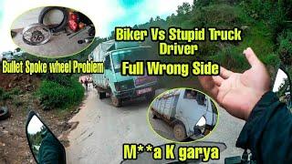 Biker Vs  Stupid Truck driver    2020 Bullet Problem    Khairane Ride    Nepali motovlog