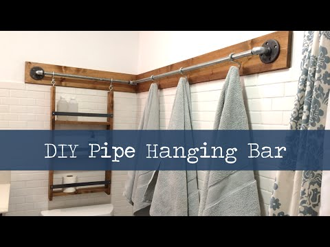 Diy Hanging Pipe Bar Youtube