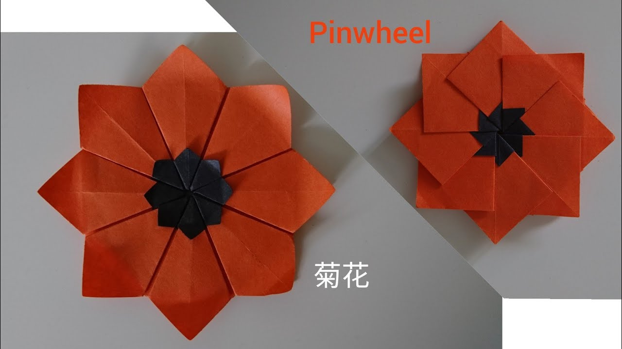 Origami Daisy Flower 8 Petal Flower Youtube