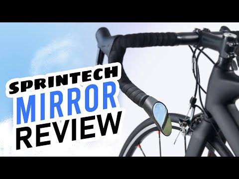 Cycling Safety Mirror Sprintech Road Drop Bar Rearview Bike Mirror Single Fo