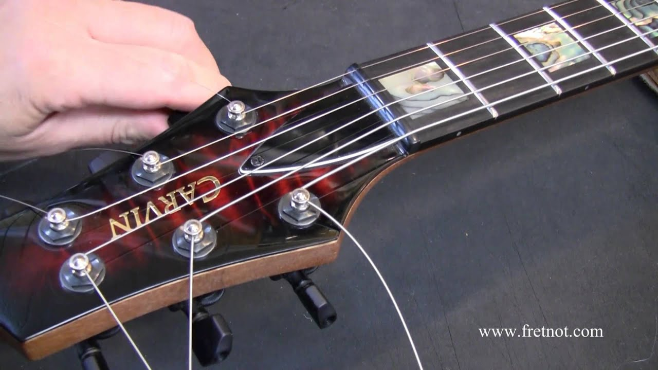 changing guitar strings using locking tuners youtube. Black Bedroom Furniture Sets. Home Design Ideas
