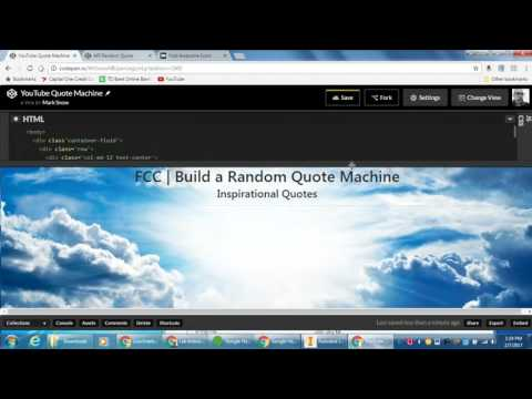 freeCodeCamp   Build a Random Quote Machine   Part 1