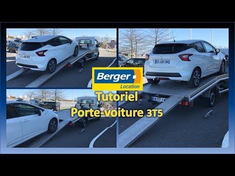 Tutoriel Berger Location - Plateau Porte-voiture 3T5