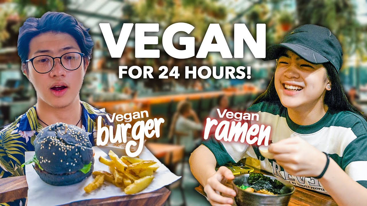 WE Only Ate VEGAN Food For 24 HOURS!! (Nasampal Si Niana!) | Ranz and Niana