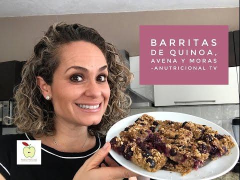 BARRITAS DE QUINOA, AVENA Y MORAS. ANUTRICIONAL TV