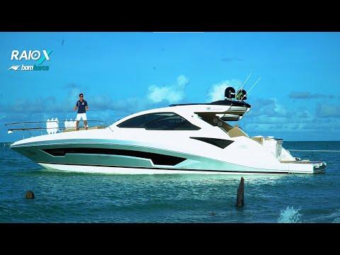 Lancha Azov Z480 do estaleiro Azov Yachts faz estreia marcante no Raio-X Bombarco