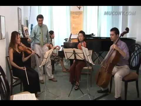 Manhattan School Faculty Daniel Epstein Piano Quartet Lesson