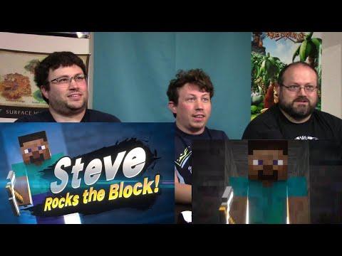Brotrio Reacts!   Steve Rocks the Block! Mincraft X Super Smash Bros Ultimate