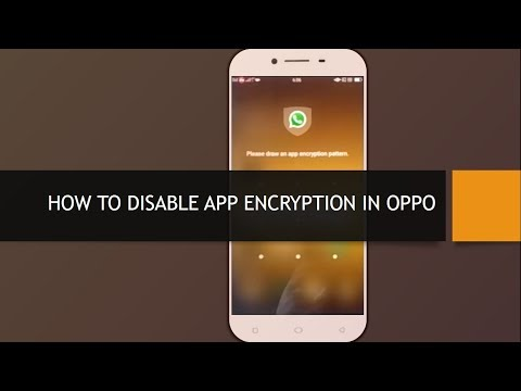 How to Disable App Encryption in OPPO - YouTube