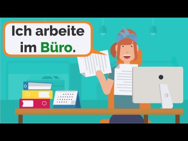 Deutsch lernen | Wortschatz im Büro | Artikel der, die, das | Wechselpräpositionen Akkusativ & Dativ