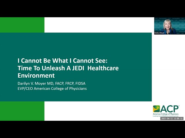 I Cannot Be What I Cannot See: Time to Unleash a JEDI Healthcare Environment