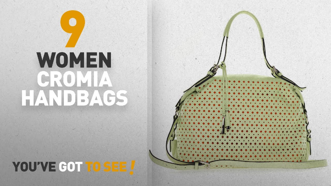 Top 10 Cromia Italia Handbags Best Ers Italian Made Pistachio Green Perforated Leather