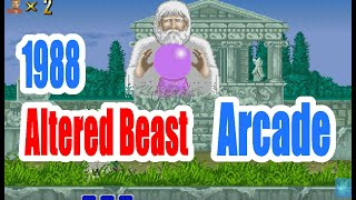 1988 Altered Beast Arcade Old School Game Playthrough Retro game