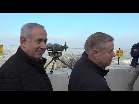 Senator Graham, Ambassador Friedman Tour Golan Heights With PM