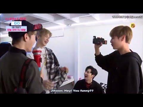 JIHOON, SUNGWOON & DANIEL FUNNY ENGLISH CONVERSATION | Wanna One