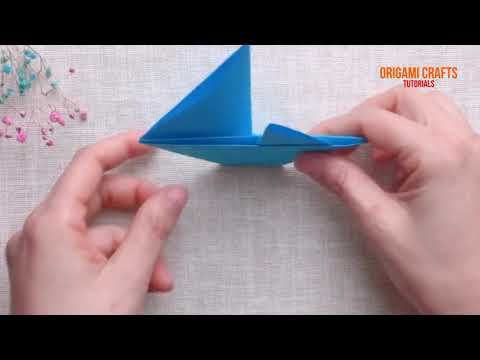 How to make Sailing Boat Origami And Papercraft | Origami Crafts Tutorial 2021