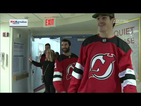 The Devils Visit New Jersey Children's Hospitals During Holiday Season
