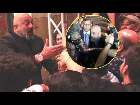 Sanjay Dutt HILARIOUS Crazy MASTI With Media Reporters | Priyanka Nick Mumbai Reception